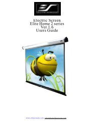 Electric Screen Elite Home 2 series Ver.1.6 Users Guide