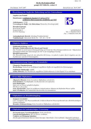 Sicherheitsdatenblatt - 3B Scientific