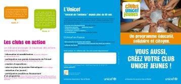 Télécharger la plaquette d'information sur les CLUBS UNICEF ...