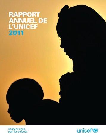 Rapport annuel de l'UNICEF 2011