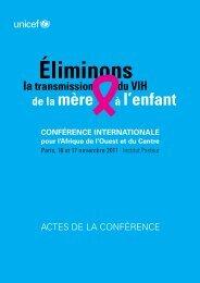 Téléchargez les Actes de la conférences - Unicef