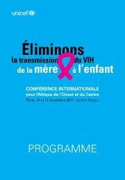 Téléchargez le Programme de la conférence - Unicef