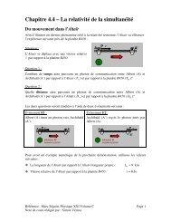 Chapitre 4.4 – La relativité de la simultanéité