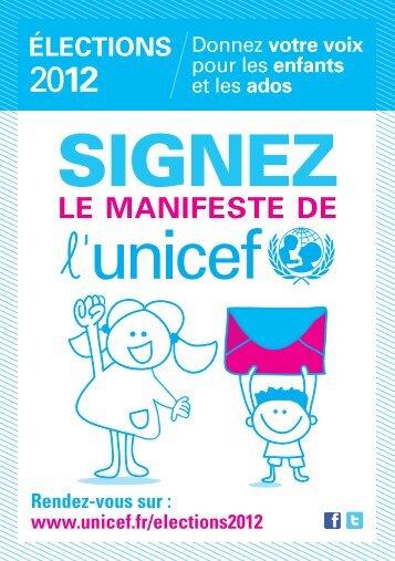 Flyer 14,8 x 21 cm - Unicef