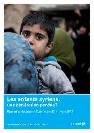 Le rapport de l'UNICEF en PDF
