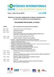 Renforcer la sécurité nutritionnelle en Afrique subsaharienne - Unicef
