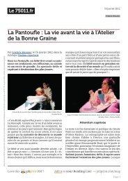 Le 75011 - Théâtre Les Ateliers d'Amphoux