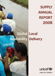 SUPPLY ANNUAL REPORT 2008 Local Delivery Global ... - Unicef