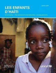 Les Enfants d'Haïti. Un an après - Des secours à la ... - Unicef
