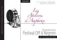 Téléchargez le programme du Théâtre des Ateliers d'Amphoux pour ...