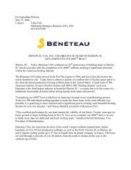Beneteau Celebrates 20 Years & the 6000th Boat built in ... - Marina42