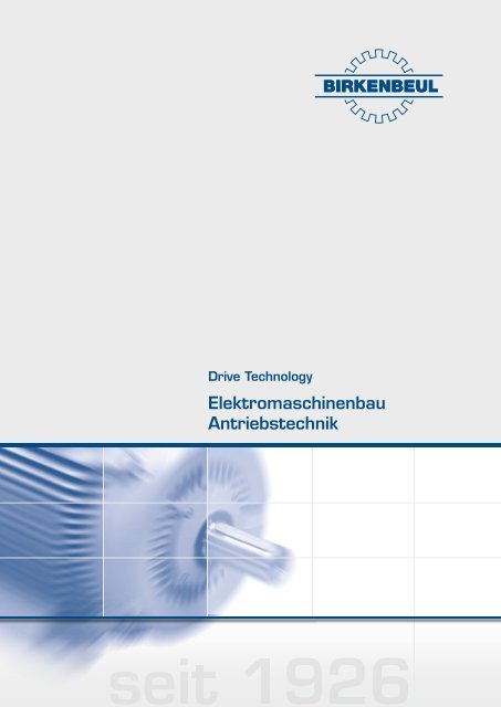 Birkenbeul Elektromaschinenbau Antriebstechnik