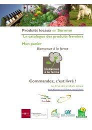 catalogue des produits fermiers - Bienvenue à la Ferme