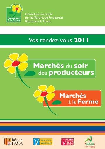 BALF - Programme des marchés 2011 - Chambre d'Agriculture de ...