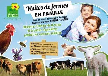 Visites de fermes - Bienvenue à la Ferme