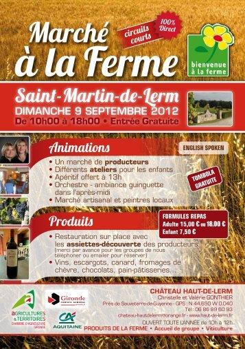 Saint-Martin-de-Lerm - Bienvenue à la Ferme