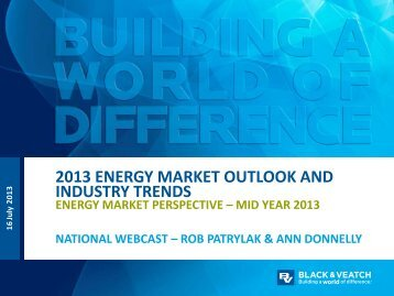 2013 Energy Market Outlook - Black & Veatch