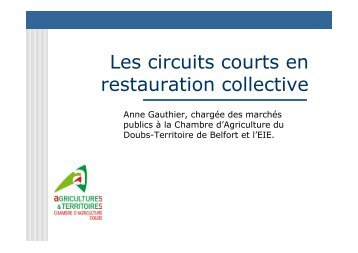 Les circuits courts en restauration collective - Chambre d'agriculture ...