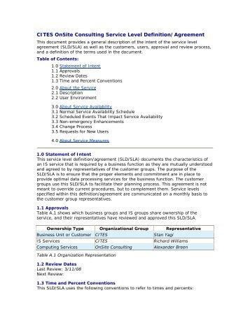 level agreement sla template oit oit ncsu edu service level agreement