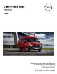 Opel Movano euro5 Fourgon