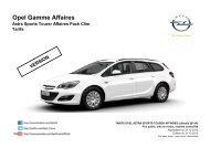 Tarifs - Opel Astra Sports Tourer Affaires