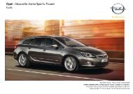 Tarifs et fiche technique Opel Astra Sports Tourer