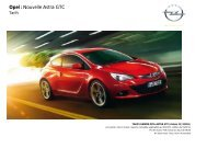 Opel : Nouvelle Astra GTC