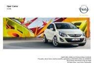 Tarifs et fiche technique Opel Corsa