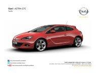 Tarifs Opel Astra GTC