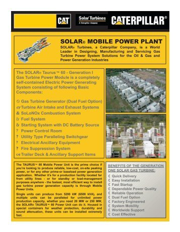 SOLAR® MOBILE POWER PLANT - Camelot Technologies Group