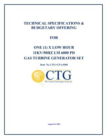 PURCHASE SPECIFICATION - Camelot Technologies Group