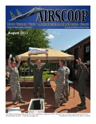 August 2011 - 104th Fighter Wing, Massachusetts Air National Guard