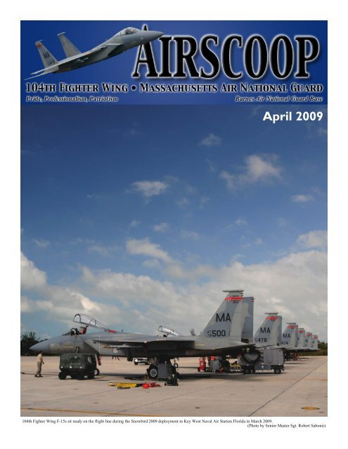 Airscoop April 09 104th Fighter Wing, Massachusetts Air
