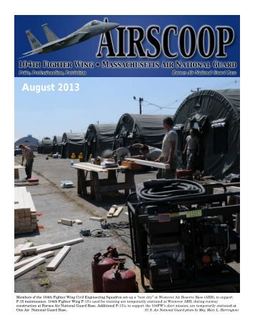 August 2013 (pdf) - 104th Fighter Wing, Massachusetts Air National ...