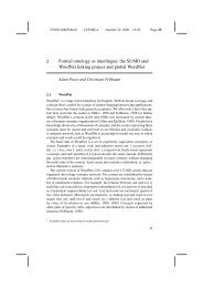 2 Formal ontology as interlingua: the SUMO and ... - Adam Pease
