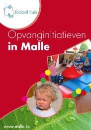"""een brochure """"Opvang in Malle"""" - Gemeente Malle"""