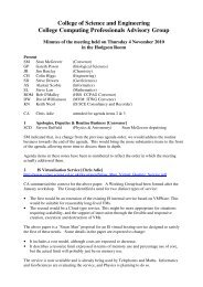 Minutes - College Computing Professionals Advisory Group