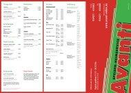 Speisekarte als PDF - Avanti