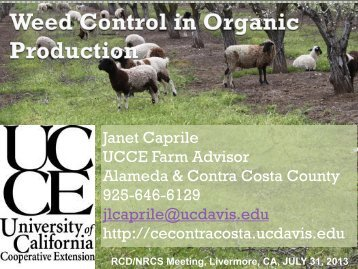 Organic Weed Management presentation - UCCE Contra Costa