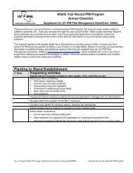 Planting to Stand Establishment - UC Statewide IPM Program