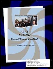 2013-2014 Parent/Student Handbook - Asbury Park School District