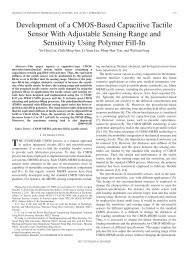 Development of a CMOS-Based Capacitive Tactile ... - IEEE Xplore