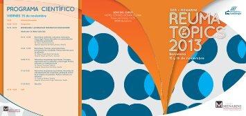 PROGRAMA CIENTÍFICO - Sociedad Española de Reumatología