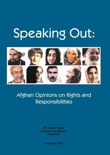 Afghan Opinions - Rights and Responsibilities 19 November 2003