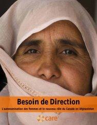 Besoin de Direction: L'autonomisation des femmes ... - CARE Canada