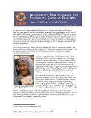 Afghan Elections Report September 2005 - CARE Canada