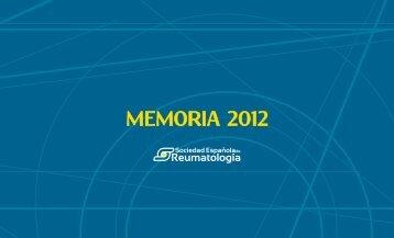 Memoria, 2011-2012 - Sociedad Española de Reumatología
