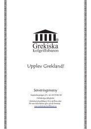 Serveringsmeny - Grekiska Kolgrillsbaren