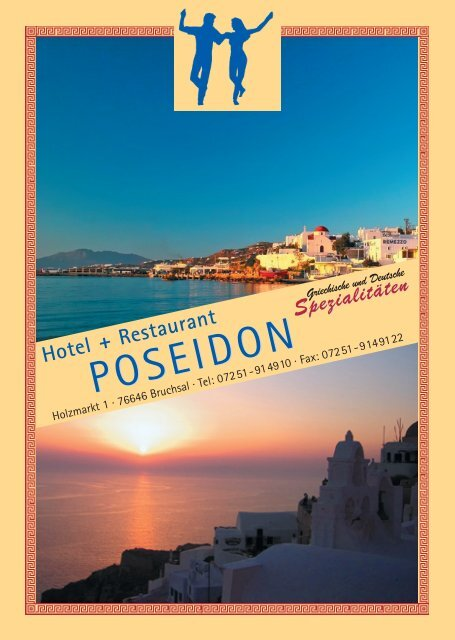 speisekarte - Hotel Restaurant Poseidon Bruchsal