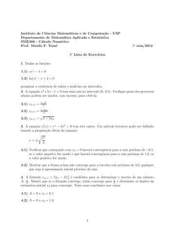 lista exercicios 3 - USP